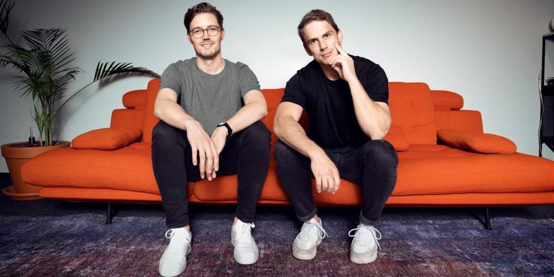 Marius Blaesing (l.) brach sein Studium ab und gründete eine Firma mit Christian Wiens (r.) Foto: © Friedemann Hertrampf/ Getsafe