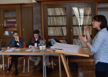 Viertelfinale der süddeutschen Debattiermeisterschaft 2019 in Würzburg. Foto: Debating Club Heidelberg e.V.