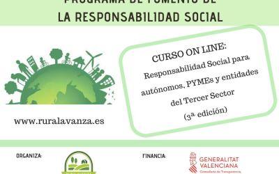 MATRÍCULA CERRADA – Curso on line: Responsabilidad Social para autónomos, PYMEs y entidades del Tercer Sector..