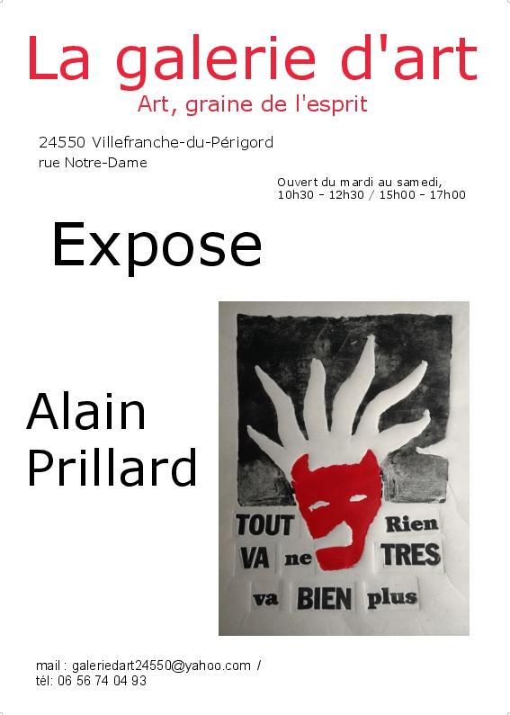 Une nouvelle expo à la Galerie d'Art de Villefranche-du-Périgord