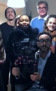 Le réalisateur Taoufik Rouabhi et toute l'équipe du film Cas Comme Camille  ...-48d81284