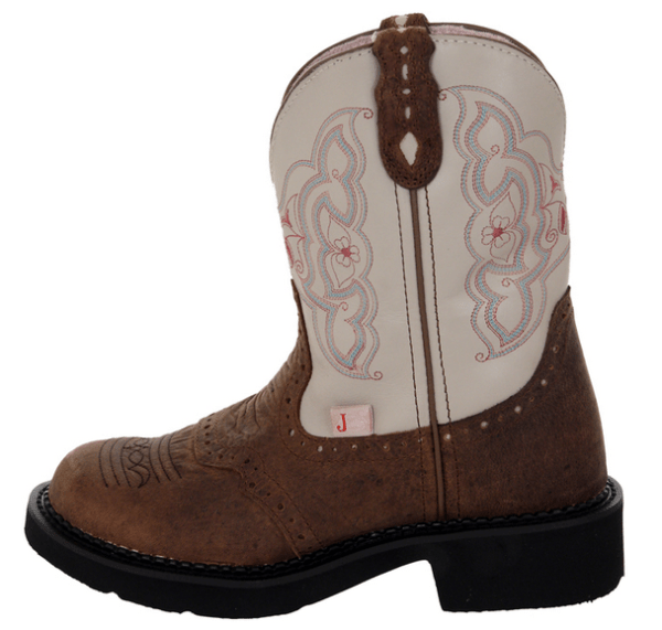 Justin Ladies Gypsy CreamBrown Colored Western Boots