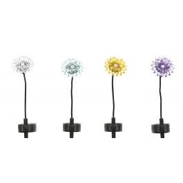 Assorted Alpine Solar Acrylic Chrysanthemum Stake Light