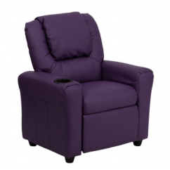 Swivel Chair King Living Striped Club Room Furniture Hearth Home All Departments Flash Contemporary Purple Vinyl Kids Recliner W Cup Holder Headrest Dg Ult