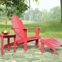 Red Adirondack Chairs Marine Deck Linon Chair 753793875279
