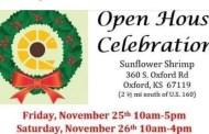 Oxford Sunflower Shrimp Open House scheduled for Nov 25-26
