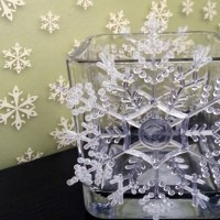 Crystal Snowflake Candle Holder Tutorial | #DIY Dollar Store Crafting