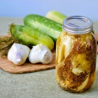 Garlic Dill Pickles Canning #Recipe & Tips