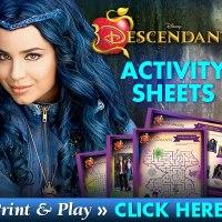 Disney Descendants Activity Sheets #DescendantsEvent