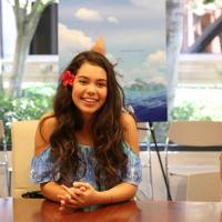 Exclusive Interview with MOANA's Auli'I Cravalho and her Mom, Puanani! #Moana