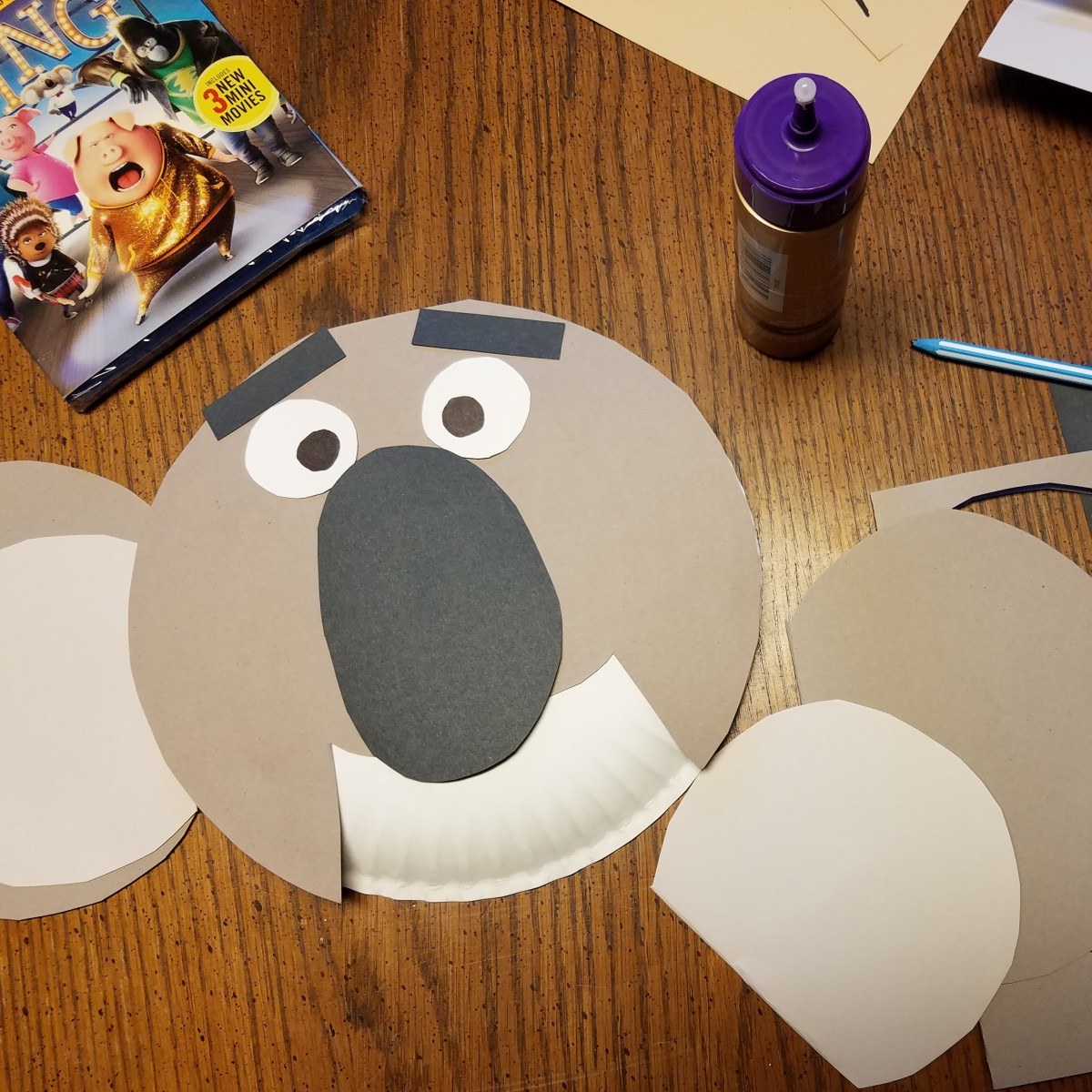 Design Your Own Paper Plate Masks for SING Family Movie Night