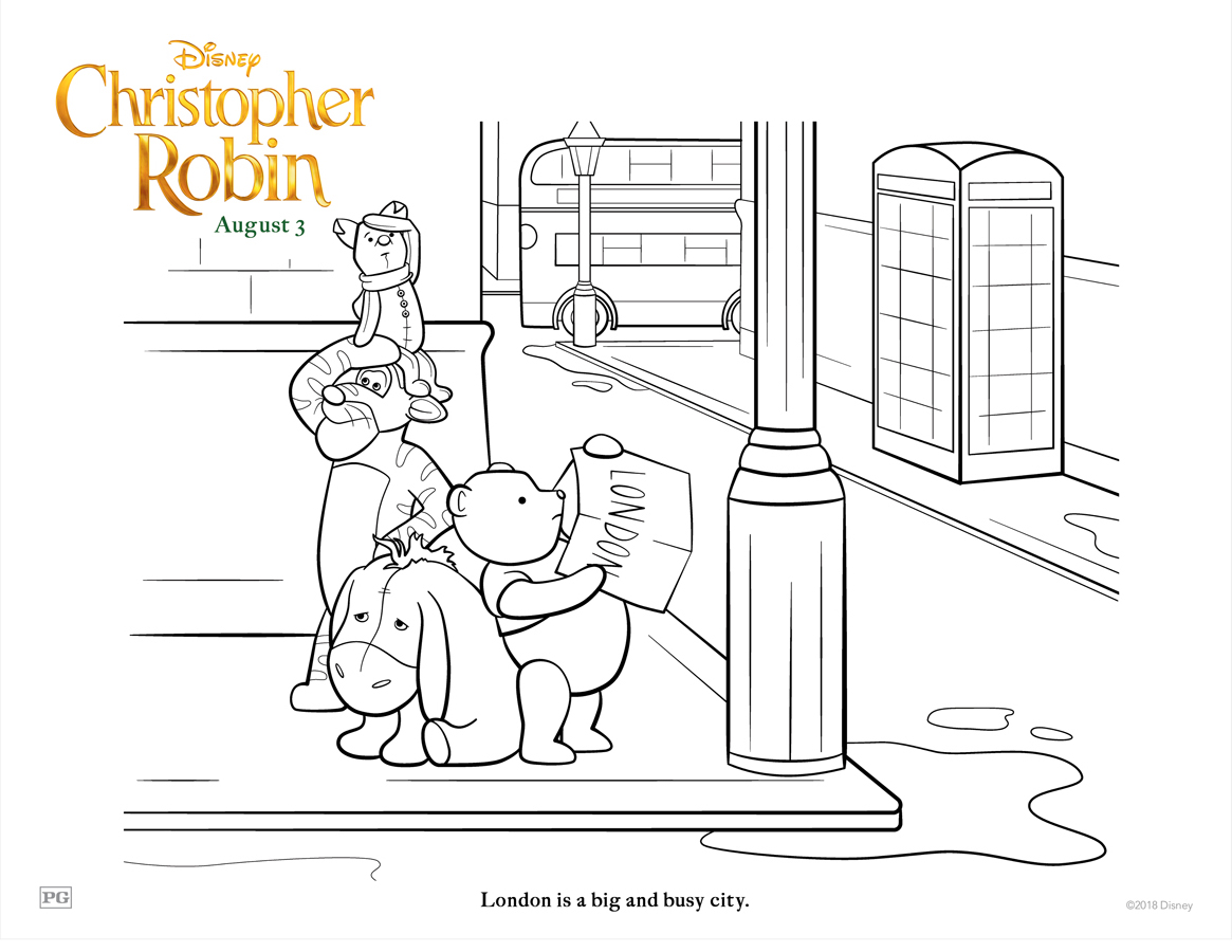 Coloring Time With Pooh And Friends Free Christopher