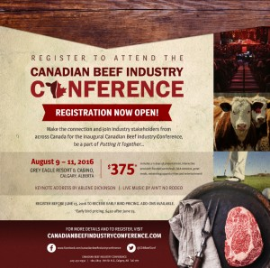 Canadian Beef Industry Conference Registration Open 2016