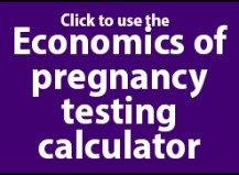 Economics of pregnancy testing (preg-checking) beef cows calculator