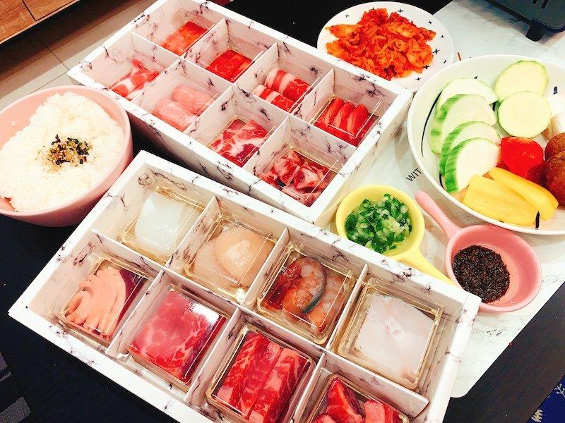 四時輕燒肉台北燒烤外帶烤肉食材清單