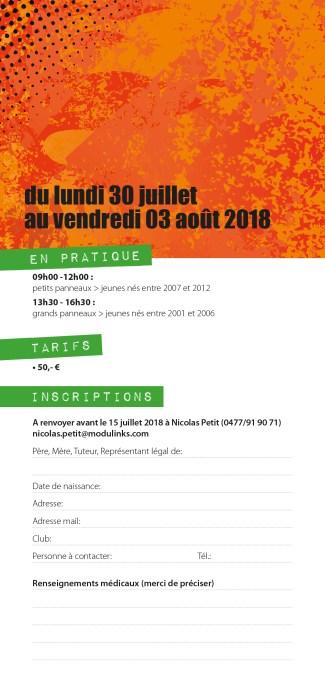 Basket Stage Été 2018 : formulaire