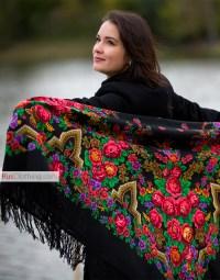 Wool shawl ''Russian beauty'' | RusClothing.com