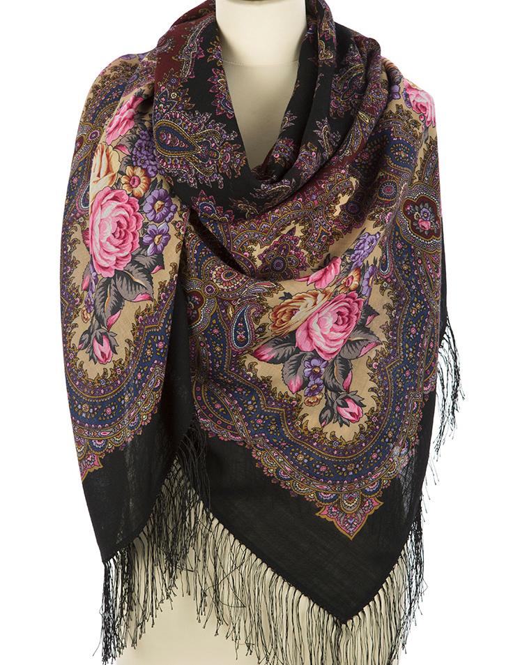 Wool shawl ''Spanish wine''