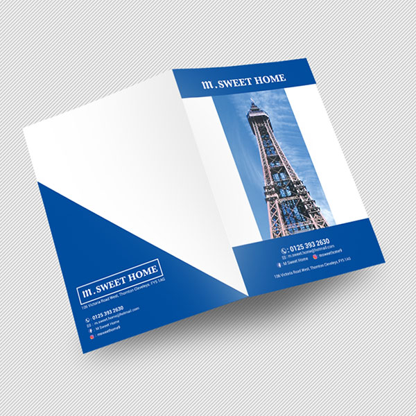 A3 half folded leaflet printing with free UK delivery | Rushprint London