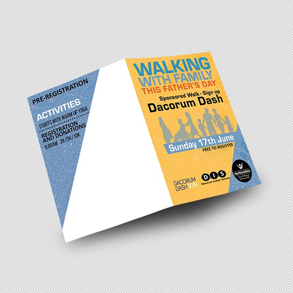 a5 half folded leaflet printing at Rush Print London for cheap price