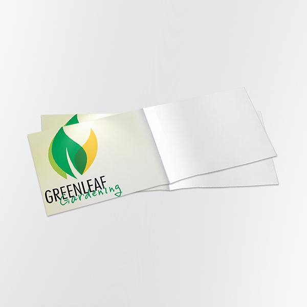 a5 4pp landscape folded leaflet printing
