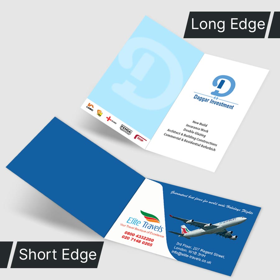 folded business cards printing