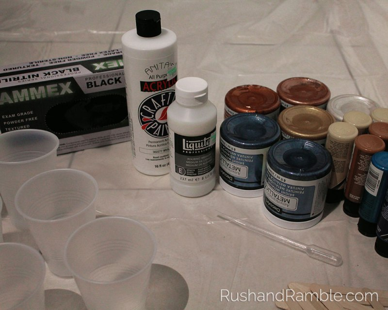 Dirty Pour - Acrylic Pour Fluid Painting for Beginners