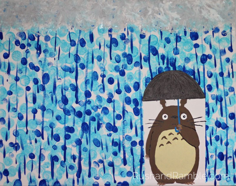 Sick Day Survival Crafts: Painting | Daubers, Fingers, Brushes and Totoro