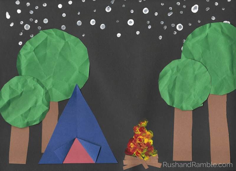 Construction Paper Camp Site Craft - Rush & Ramble