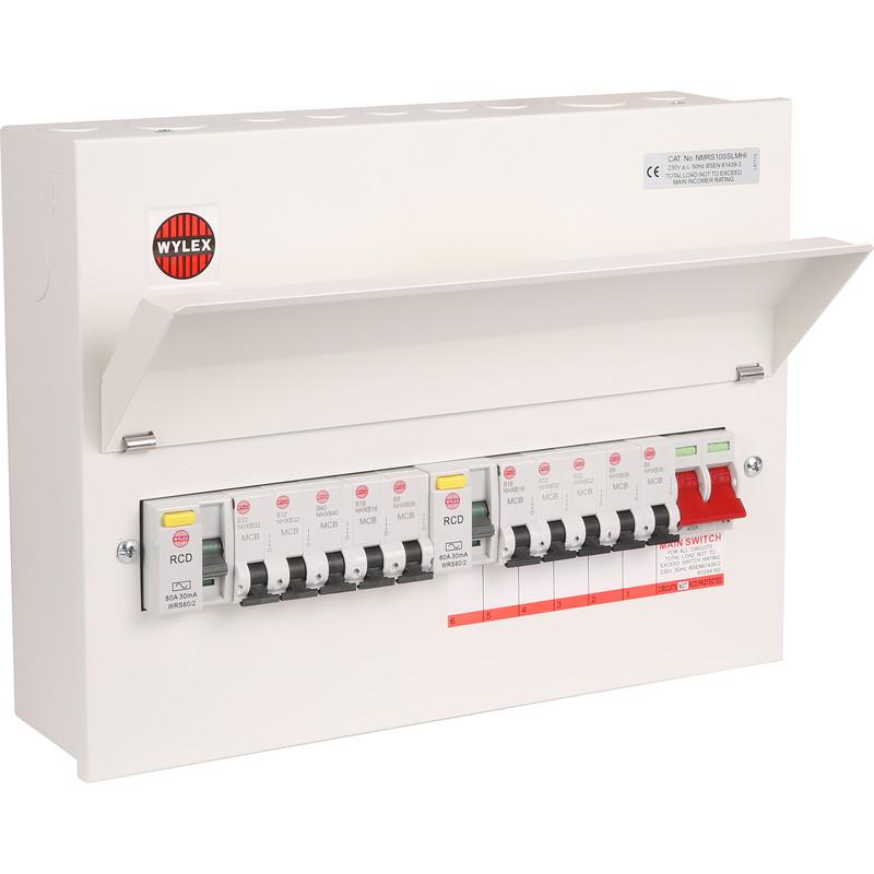 wylex consumer unit wiring diagram power bi desktop architecture 10 way fuse box diagrams lose 17th edition marine