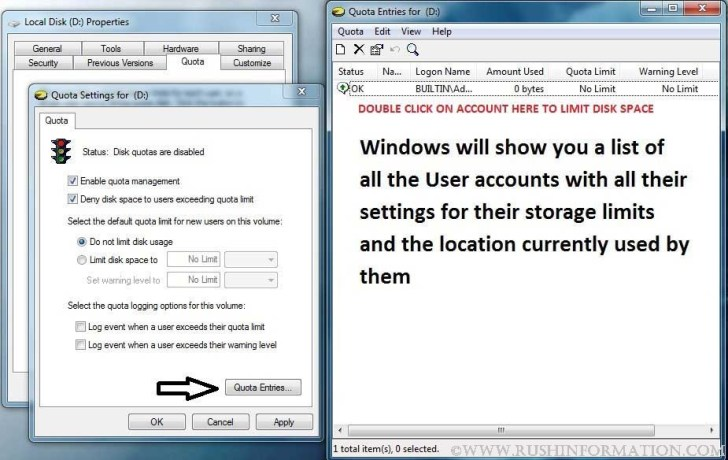 How to Restrict User Account Space in Windows 7 4