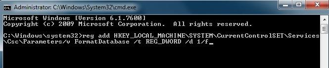 Remove Offline Files Cache in Windows 7