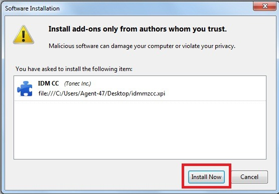 How to Integrate IDM with firefox