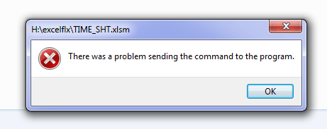 There was a Problem Sending a Command to the Problem