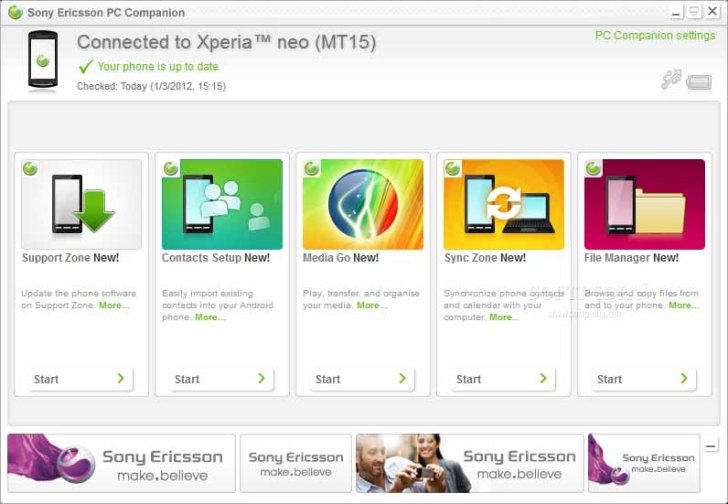 Sony Ericsson Xperia PC Companion FREE Download
