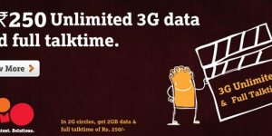 Tata Docomo Rs 250 Unlimited 3G Data Plan | Full Talktime Plan Details