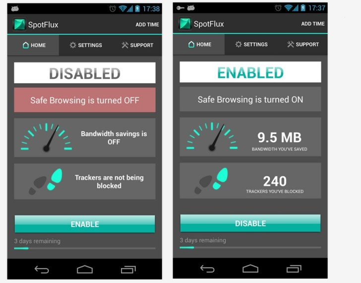 Spotflux VPN For Android VPN App
