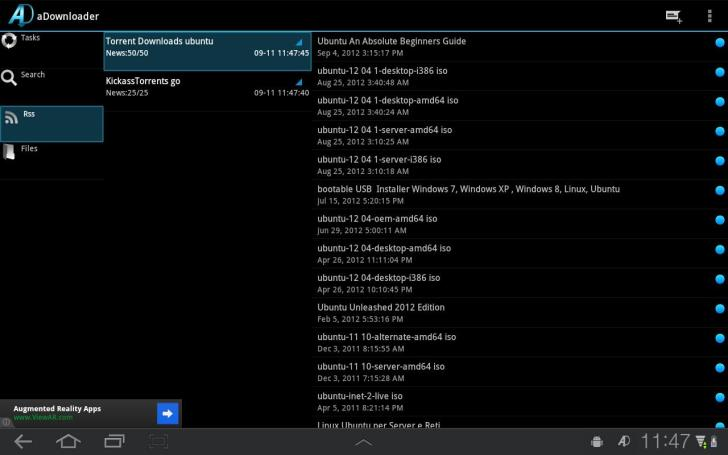 How to Download Torrent Files on Android - aDownloader