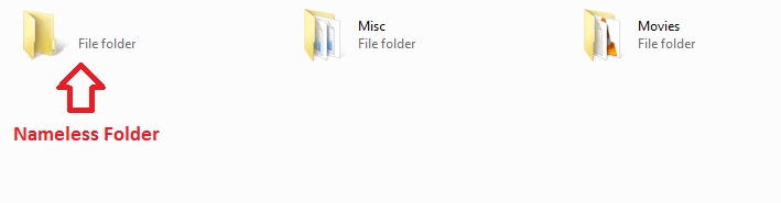 How to create nameless folder