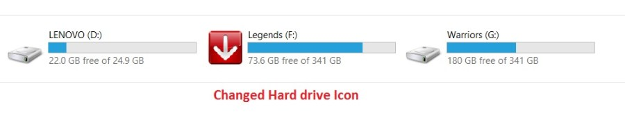Changed Hard drive Icons