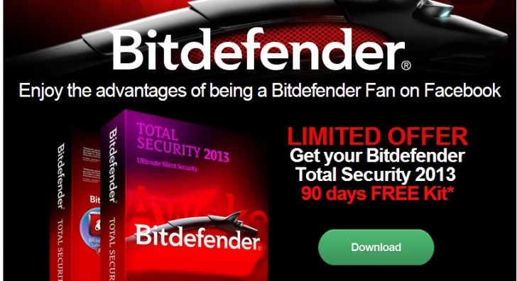 Free Bitdefender Total Security 2013 for 90 Days Trial