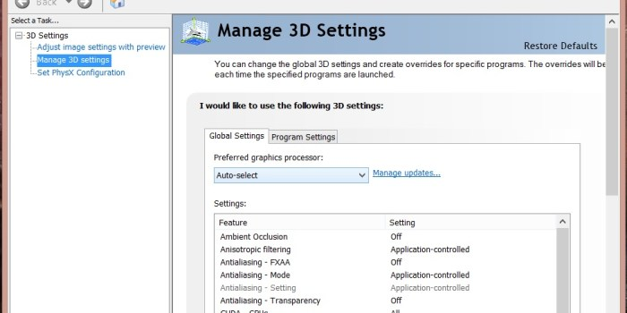 How to Switch between Intel Graphics and Nvidia - 1