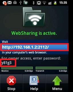 Websharing - Step 2