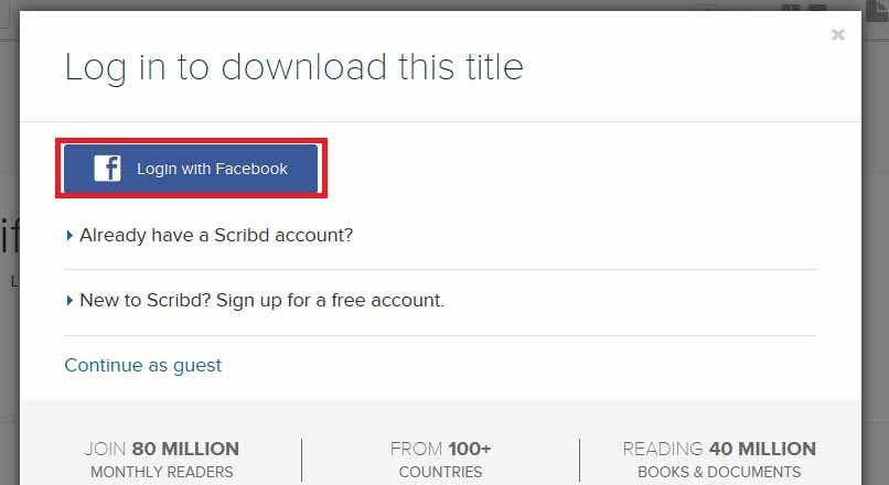 How to Download Files From Scribd FREE - Step 2