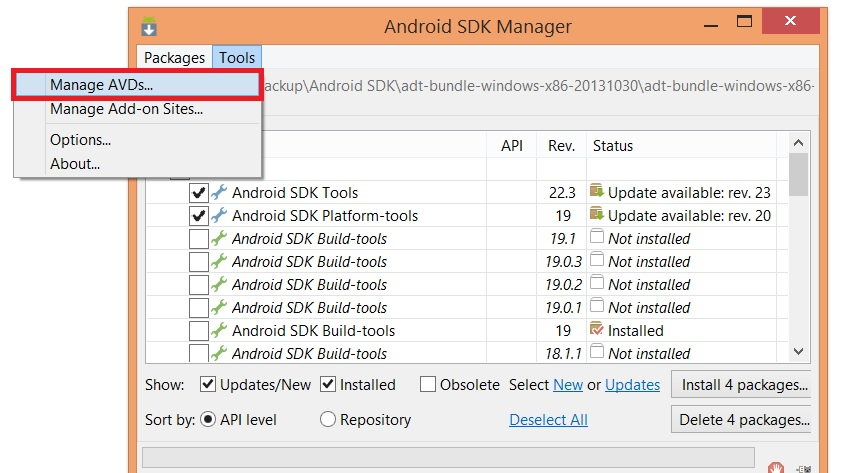 How to Install Whatsapp on PC Using Android SDK Emulator - Step 1