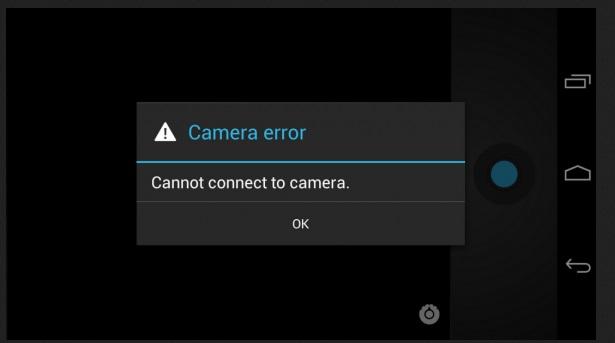Camera Error Can't Connect to Camera error fix