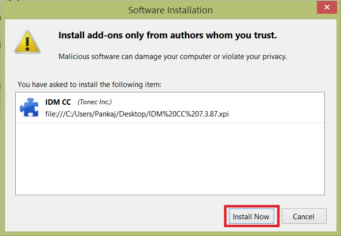 IDM CC for Mozilla Firefox download