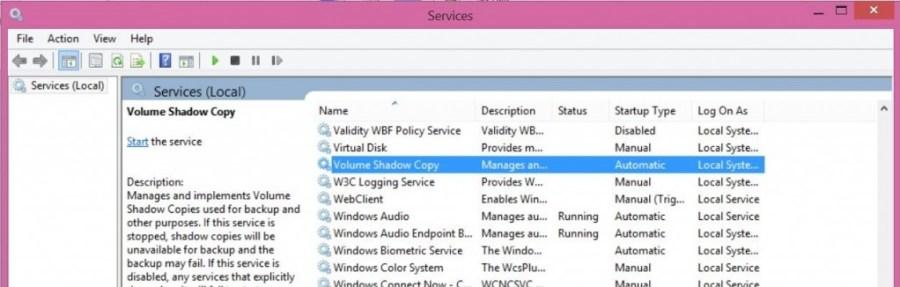 How to fix System Restore Error 0x81000203 - Volume Shadow Copy