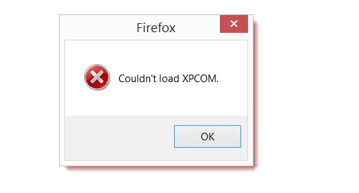 Firefox Couldn't load XPCOM FIX