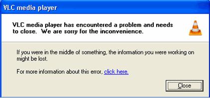 Fix VLC Media Player has encountered a Problem Error